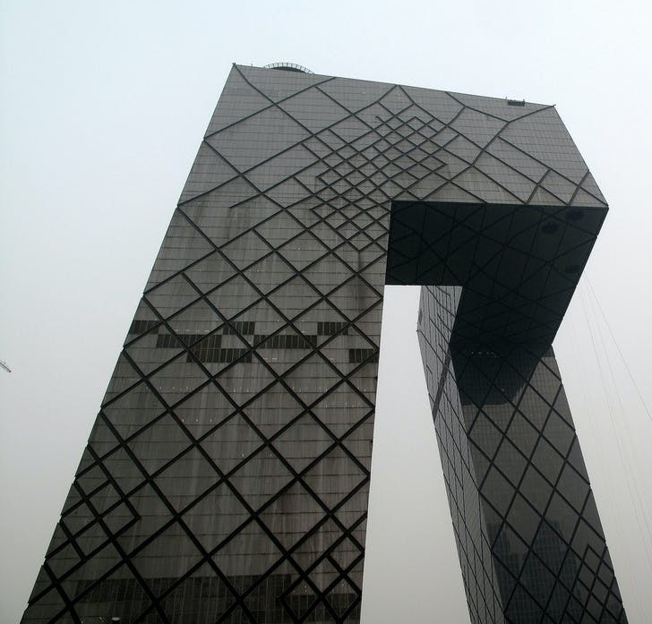 The CCTV tower. Image: Francisco Anzola via Flickr