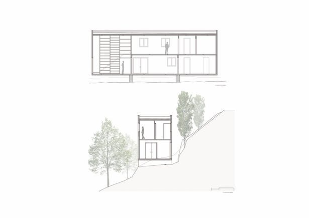 HARQUITECTES / house 205 / sections