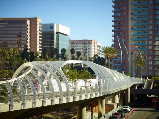 Rainbow Bridge by SPF:a located in Long Beach, CA. Image: SPF:a.