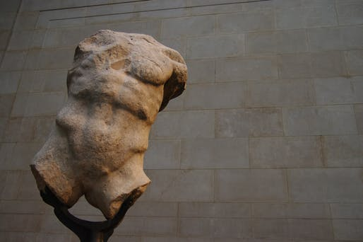 A torso from the Elgin Marbles displayed at the British Museum. Image courtesy Wikimedia Commons.