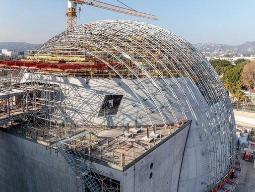"Construction photo of the Academy Museum of Motion Pictures published on June 15 on the museum's <a href=""https://www.facebook.com/TheAcademyMuseum/photos/a.2217641325165874/2384548151808523/?type=3&theater"">Facebook page</a>."