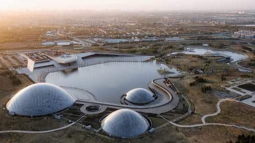 Designed by Delugan Meissl Architects, the Taiyuan Botanical Garden is now complete. All images: CreatAr.