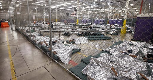 Migrant children in the U.S. Customs and Border Protection​ Placement Center in Nogales, AZ. Image: AP Photo.