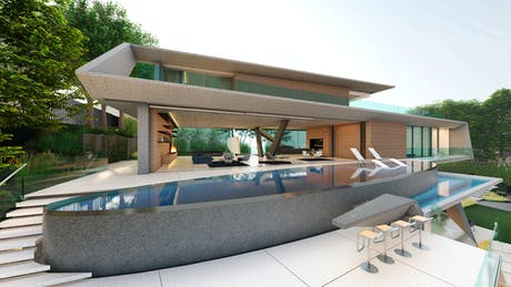 Our all-concrete 11,200 sf home in Bel Air