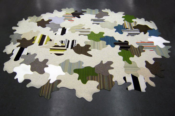 Tessellated Floorscape, waterjet-cut rug; Igor Siddiqui / ISSSStudio, produced in collaboration with by Aronson's Floor Covering, New York, NY