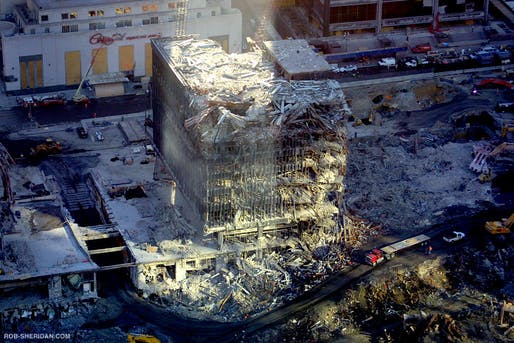 """Ground Zero on October 26th, 2001. Image: Rob Sheridan/<a href=""""https://www.flickr.com/photos/demonbaby/4099407718"""">Flickr</a> (CC BY-NC-SA 2.0)"""