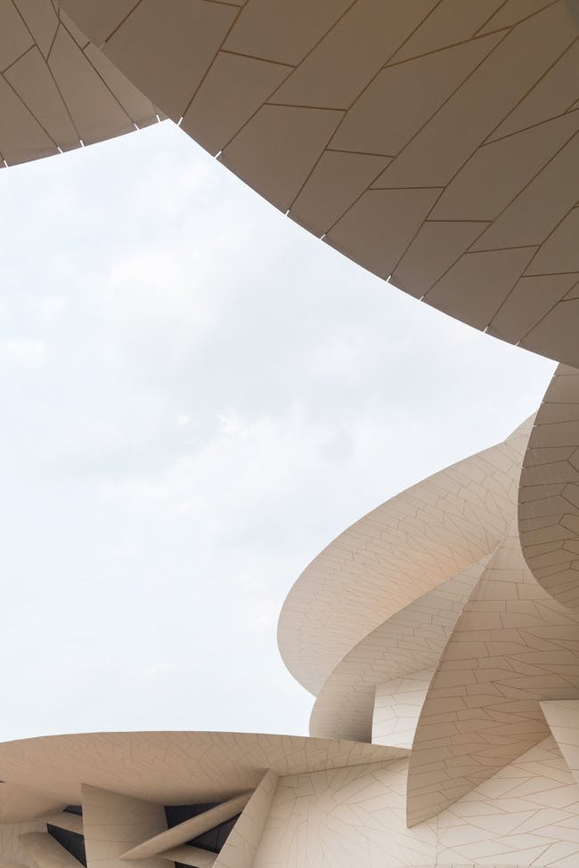 National Museum of Qatar designed by Jean Nouvel. Photo: Iwan Baan.