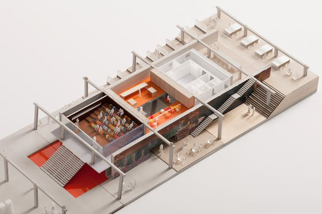 Garage Museum in Gorky Park, model. (Photo © Garage Center for Contemporary Culture, Moscow. Image courtesy of OMA.)