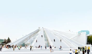 Albania's communist-era pyramid will be transformed by MVRDV into a Center for Technology, Art and Culture