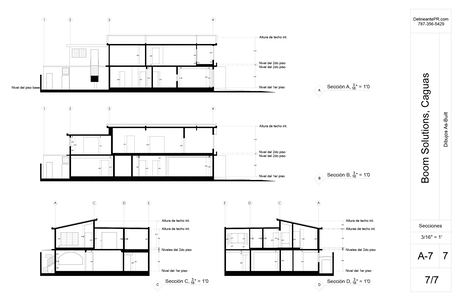 As-built elevation