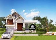 Thiết kế biệt thự vườn 1 tầng đẹp hiện đại tại Bình Phước