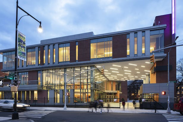 The façade of the new Center for the Performing Arts. Photo: Richard Barnes