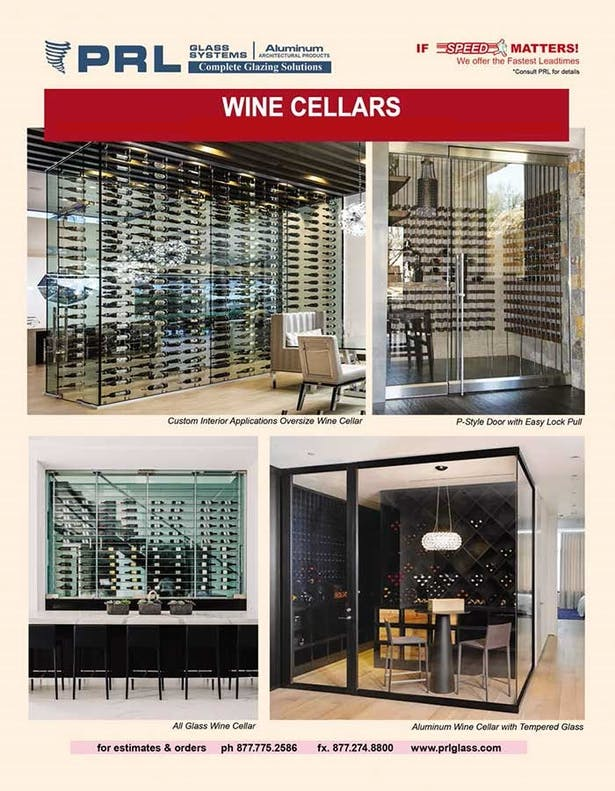PRL's All-Glass Wine Cellars