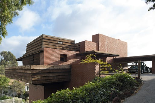 Frank Lloyd Wright's Sturges Residence, designed 1939. (Grant Mudford, via blouinartinfo.com)