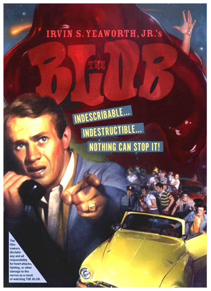 'The Blob' movie poster, via proartz.blogspot.com.