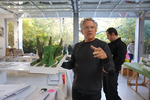 "Michael B. Lehrer, 2020 AIA|LA Gold Medal recipient. Image courtesy of <a href=""https://archinect.com/features/article/150171581/studio-visits-lehrer-architects"">Archinect</a>."