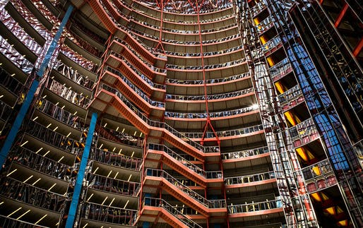 Interior of the Jamer R. Thompson Center (State of Illinois Building) designed by Helmut Jahn. Photo by Flickr user R Boed