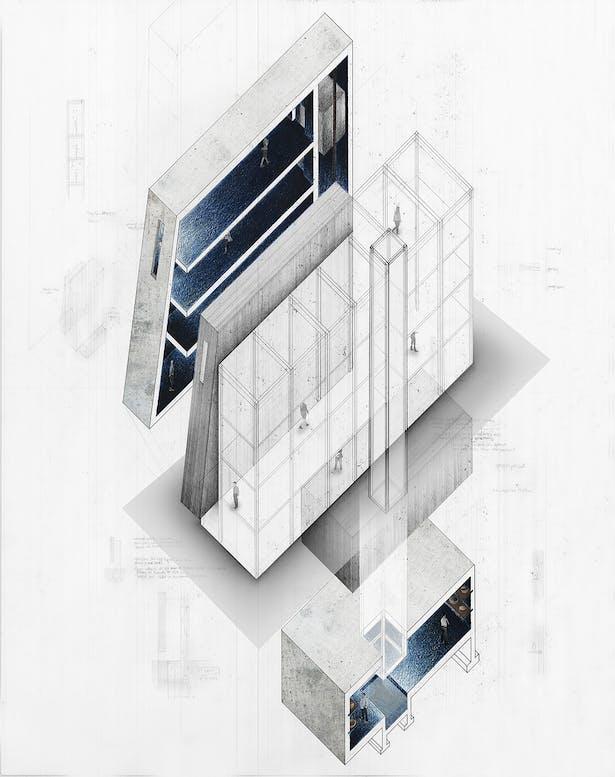 Axon Section: Concrete Mass versus Steel Structure