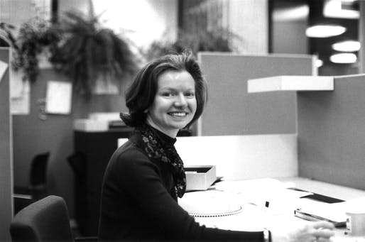 A portrait of Nancy A. Abshire at work. Image: SOM.