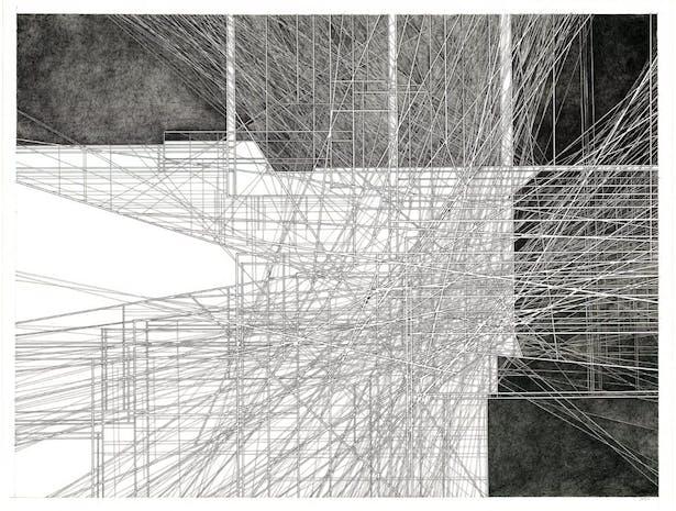 "cloud manticore 2019-008 38""x50"" pencil, ink on paper"