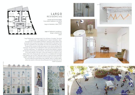 LARGO RESIDÊNCIAS | an antique tile factory turning into an art exhibition centre and residence for artists in Largo do Intendente in Lisbon, Portugal.