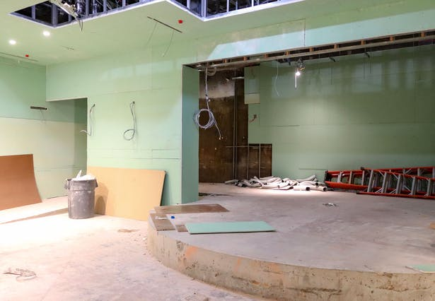 View of the Auditorium Stage area construction