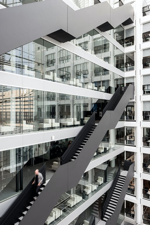 OMA Partner Ellen van Loon and architect Bart Nicolaas were the project leads on the Rijnstraat 8 government building which opened last November in The Hague. Photo: Nick Guttrige.