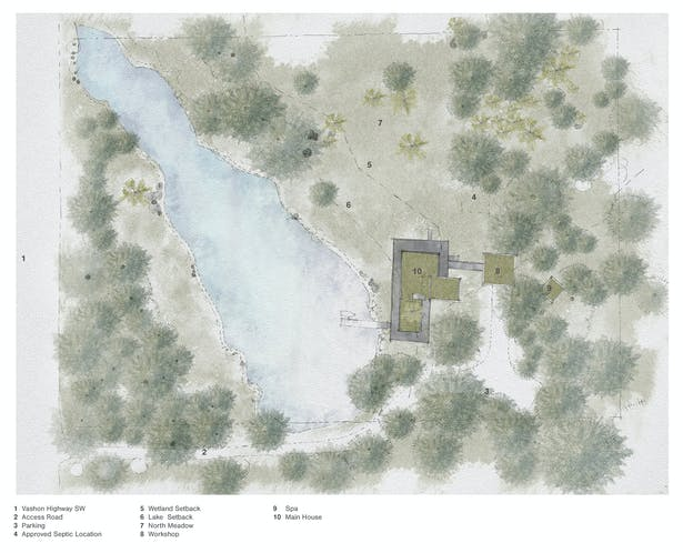 Whispering Firs - Site Plan (Rendering by Wittman Estes)