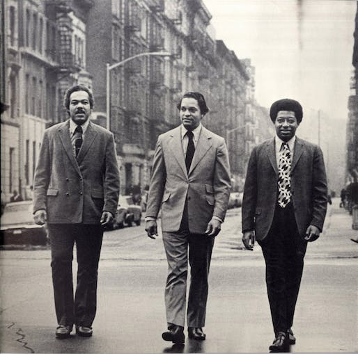 Donald P. Ryder (center) with architects J. Max Bond Jr. (left) and Nathan Smith, ca. 1969. Image: Davis Brody Bond, LLP
