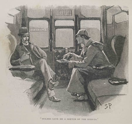 Illustration of Holmes and Watson by Sidney Paget (1860-1908)
