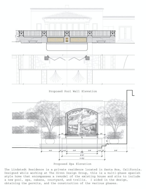 Pool and Spa elevations