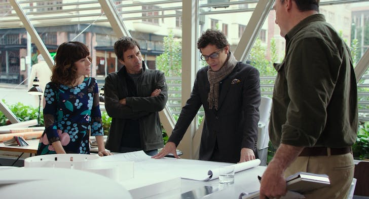 In this still from 'The Architect' (2016), clients Parker Posey and Eric McCormack clash with their architect's design for their dream house.