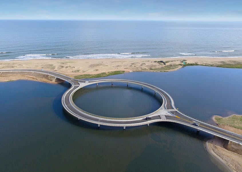 take a look at rafael viñoly s new circular bridge in uruguay news