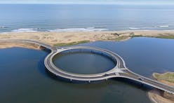 Take a look at Rafael Viñoly's new circular bridge in Uruguay