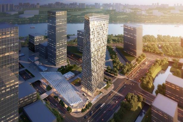 Xuhui Binjian Media City 188S-G-1 Tower and Podium