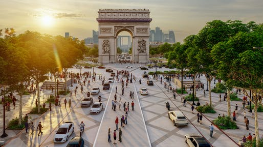 Rendering from the Champs-élysées, History & Perspectives study, led by Philippe Chiambaretta/PCA-STREAM.