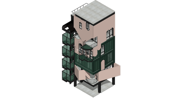 Central Tower Isometric View