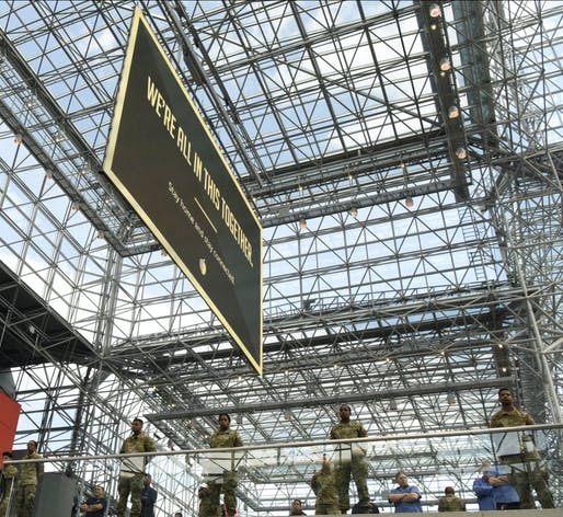 A temporary hospital facility has been set up at the Javits Center in New York and at other sites around the country. Image courtesy of U.S. Air National Guard Photo / Senior Airman Sean Madden.