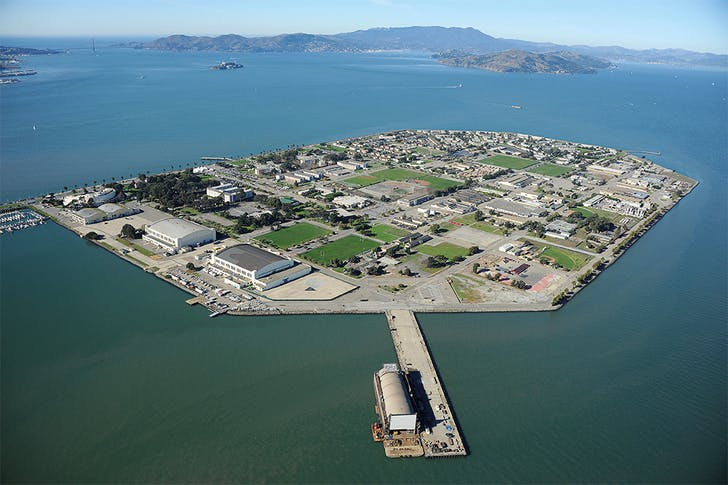 Treasure Island, © Center for Land Use Interpretation from Around the Bay: Man-Made Sites of Interest in the San Francisco Bay Region (Blast Books).