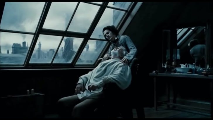 Screenshot from Sweeney Todd's 'Pretty Women' sequence, credit Amelia Taylor-Hochberg.