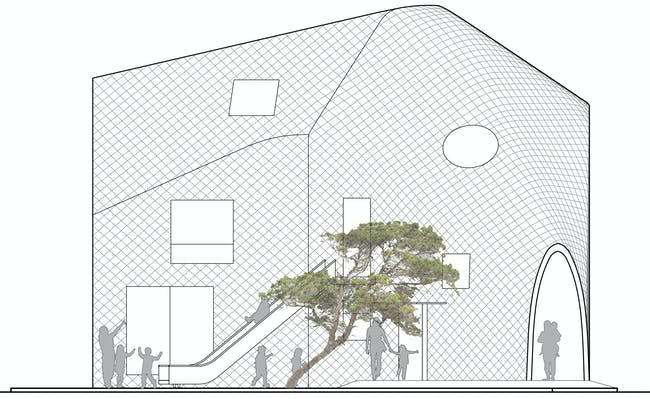 Clover House - Elevation. Image courtesy of MAD.