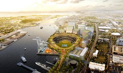 Oakland Athletics present BIG's circular redesign of proposed Howard Terminal Ballpark