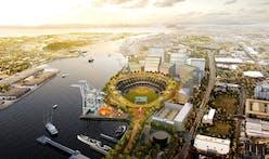 Oakland Athletics present BIG's circular redesign of proposed Howard Terminal Ballpark