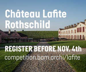 Château Lafite Rothschild - Architecture Competition