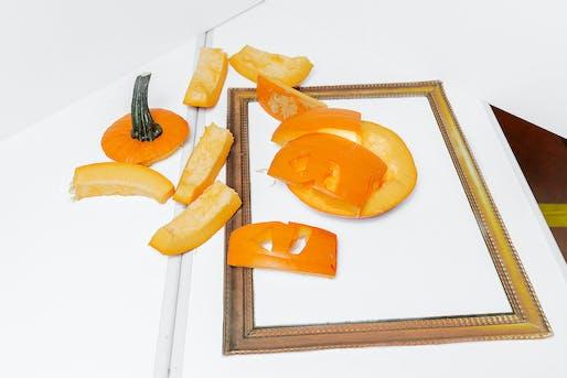 SCAPE's collapsing pumpkin portrait. Photo by Erik Barden.