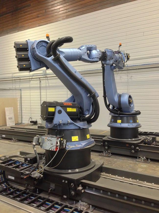 UCLA's IDEAS Kuka KR 150 robots. Image courtesy Paul Petrunia.