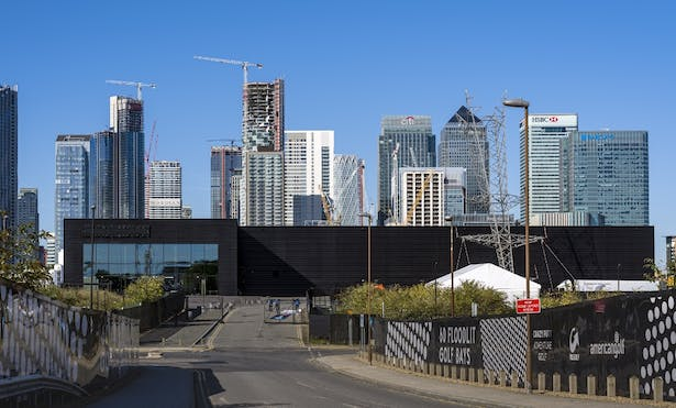 Magazine London, from North Greenwich Station approach