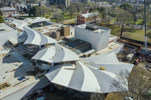 Arkansas Museum of Fine Arts (AMFA) - ariel view of blossom roof. Image © Timothy Hursley