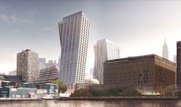 New Renderings of Bjarke Ingels' High Line Towers Show Crowns and Amenity Bridges