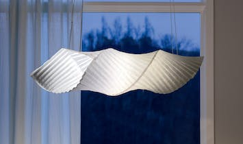 Cocoon-shaped lamp made from plastic bags wins Pratt Institute School of Design 2020 Material Lab Prize